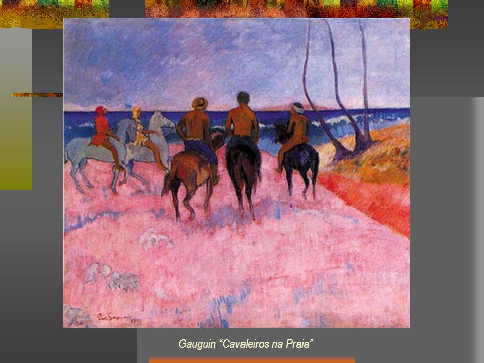 Gauguin Cavaleiros na Praia