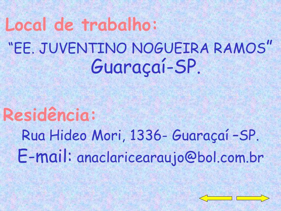 E-mail: anaclaricearaujo@bol.com.br