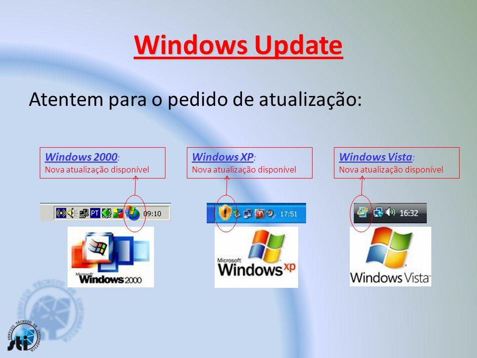 Windows Update Atentem para o pedido de atualização: Windows 2000: