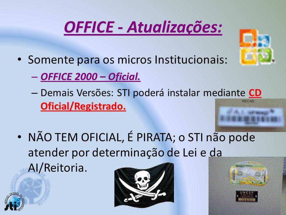 OFFICE - Atualizações: