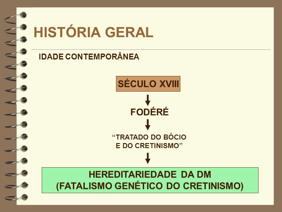 (FATALISMO GENÉTICO DO CRETINISMO)
