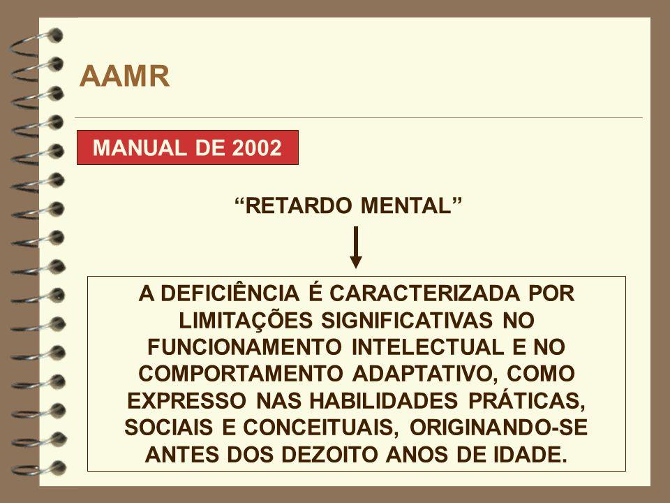 AAMR MANUAL DE 2002 RETARDO MENTAL