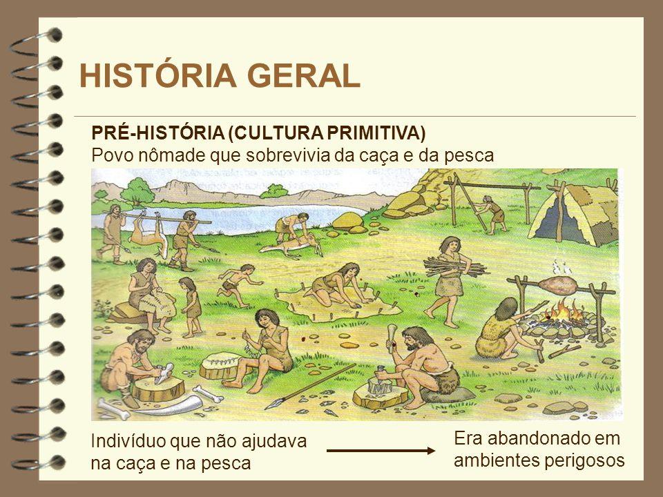 HISTÓRIA GERAL PRÉ-HISTÓRIA (CULTURA PRIMITIVA)