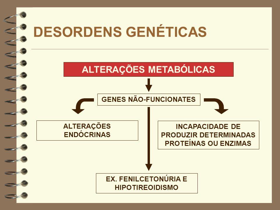 DESORDENS GENÉTICAS ALTERAÇÕES METABÓLICAS GENES NÃO-FUNCIONATES