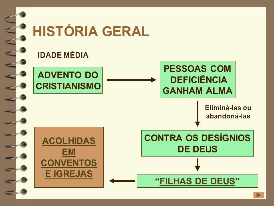 HISTÓRIA GERAL PESSOAS COM ADVENTO DO DEFICIÊNCIA CRISTIANISMO