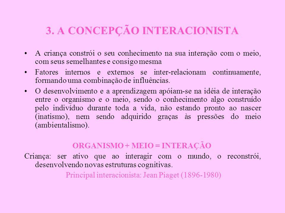 3. A CONCEPÇÃO INTERACIONISTA