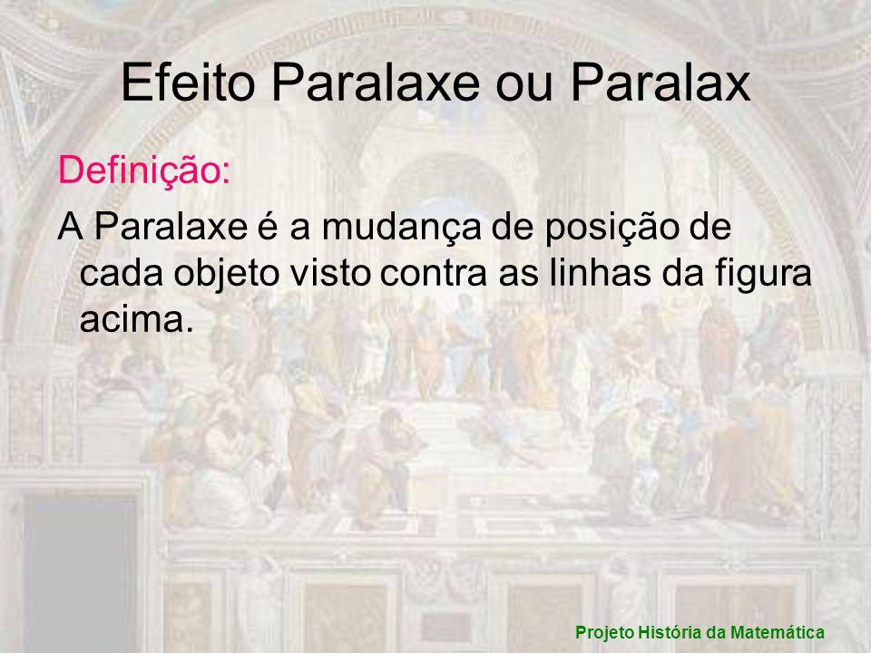 Efeito Paralaxe ou Paralax