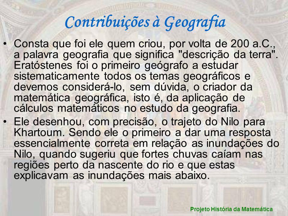 Contribuições à Geografia