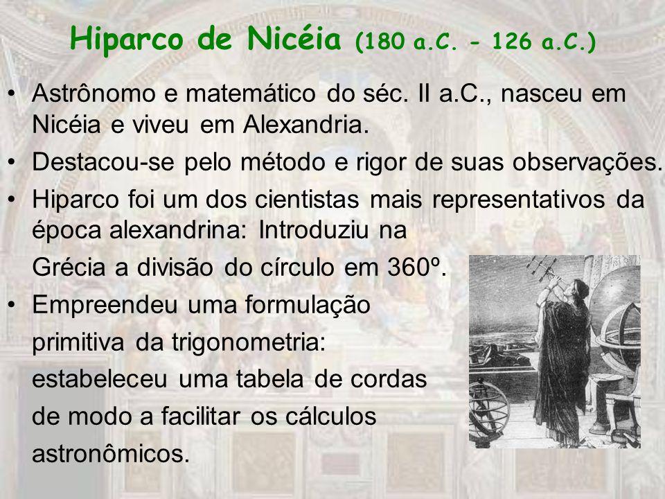 Hiparco de Nicéia (180 a.C. - 126 a.C.)