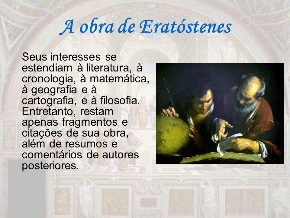 A obra de Eratóstenes