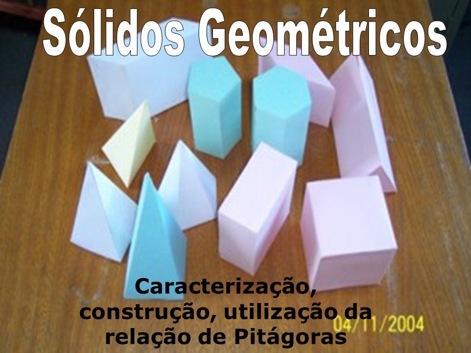 Caracterização, construção, utilização da relação de Pitágoras
