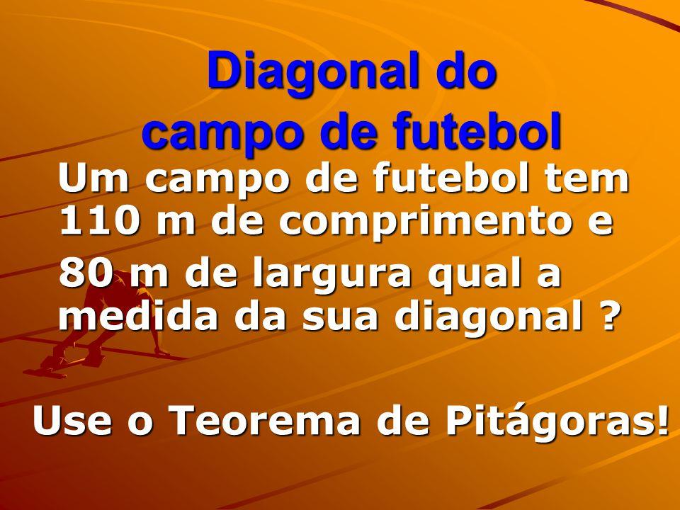 Diagonal do campo de futebol