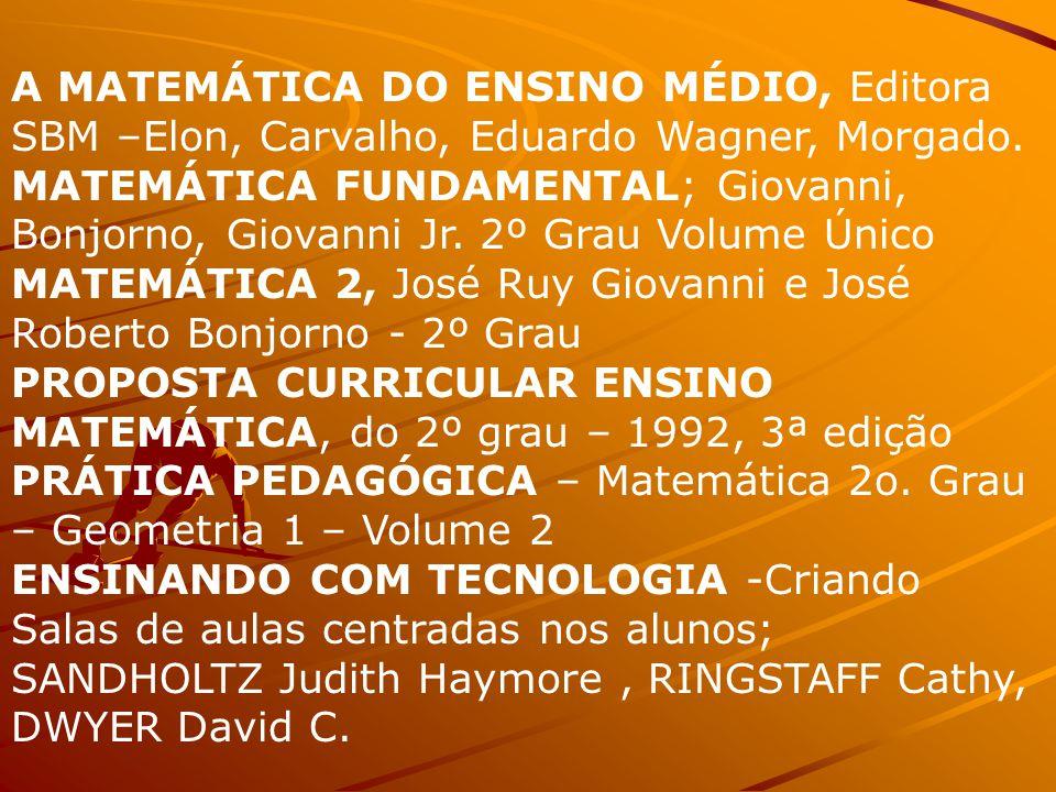 A MATEMÁTICA DO ENSINO MÉDIO, Editora SBM –Elon, Carvalho, Eduardo Wagner, Morgado.