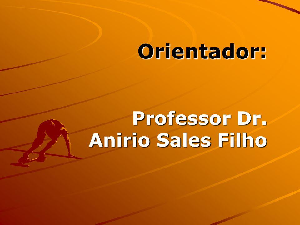 Orientador: Professor Dr. Anirio Sales Filho