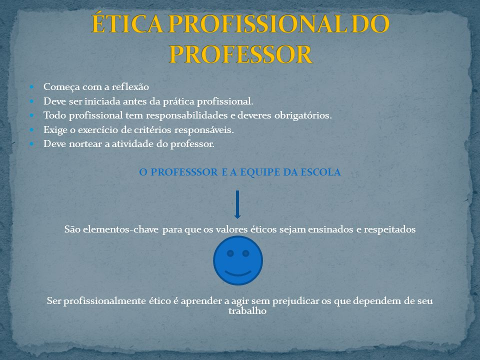 ÉTICA PROFISSIONAL DO PROFESSOR