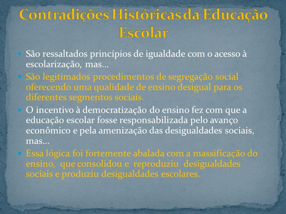 Contradições Históricas da Educação Escolar
