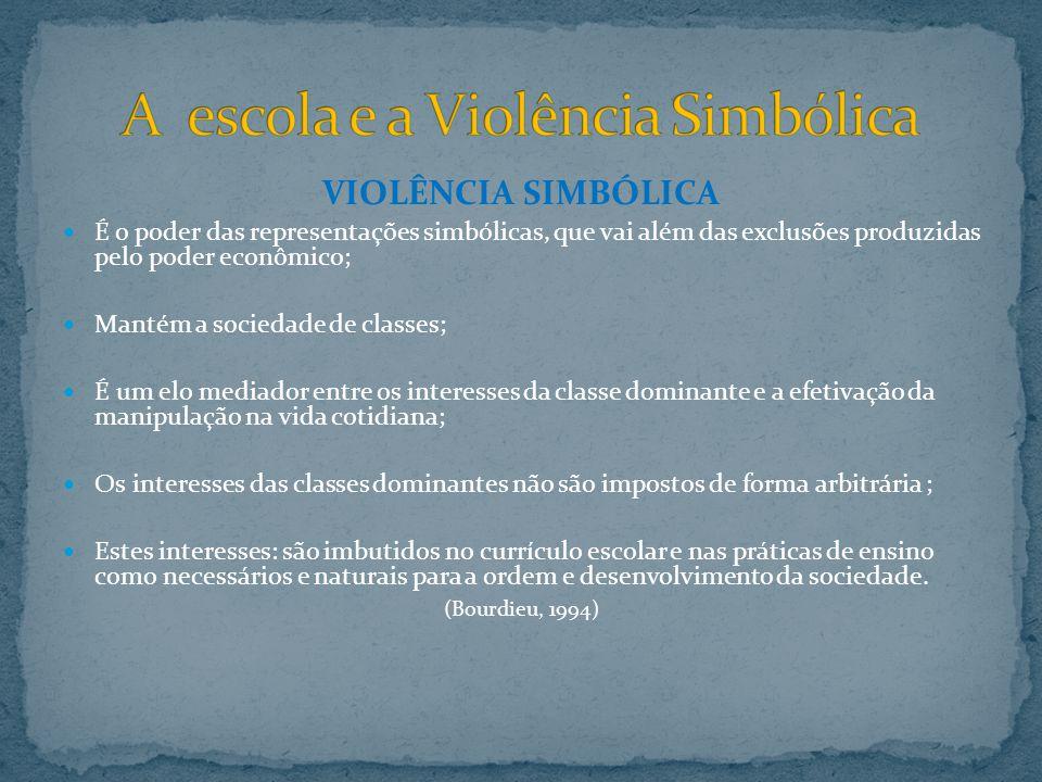 A escola e a Violência Simbólica