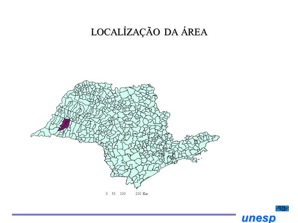 LOCALÍZAÇÃO DA ÁREA 0 50 100 200 Km