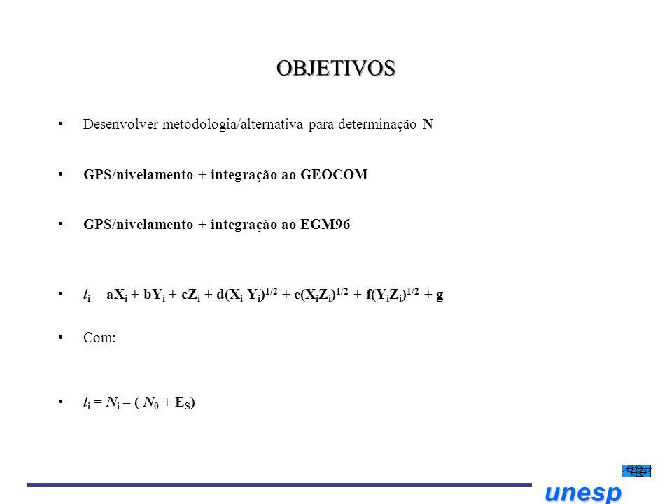 OBJETIVOS Desenvolver metodologia/alternativa para determinação N