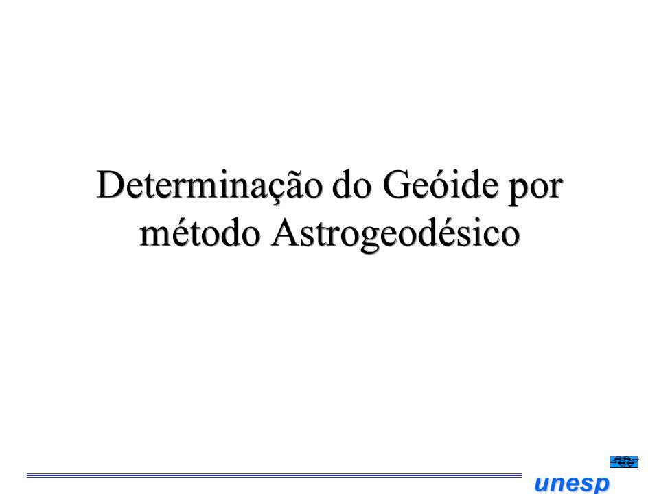 Determinação do Geóide por método Astrogeodésico