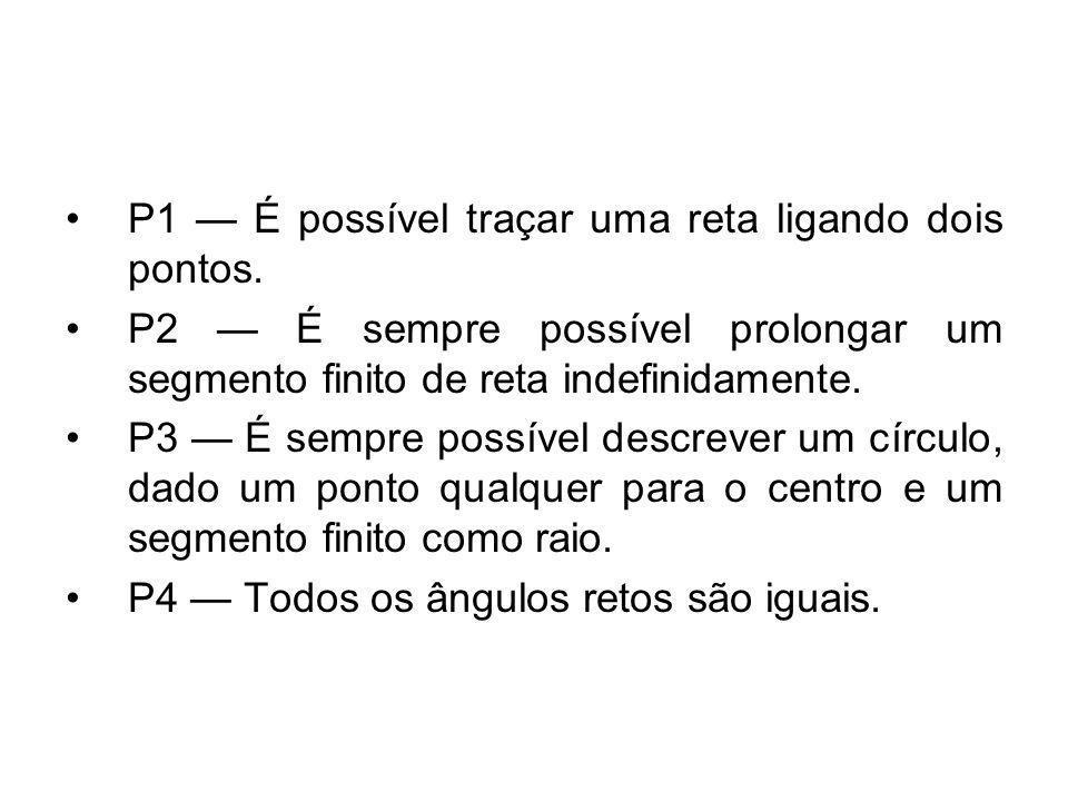 P1 — É possível traçar uma reta ligando dois pontos.