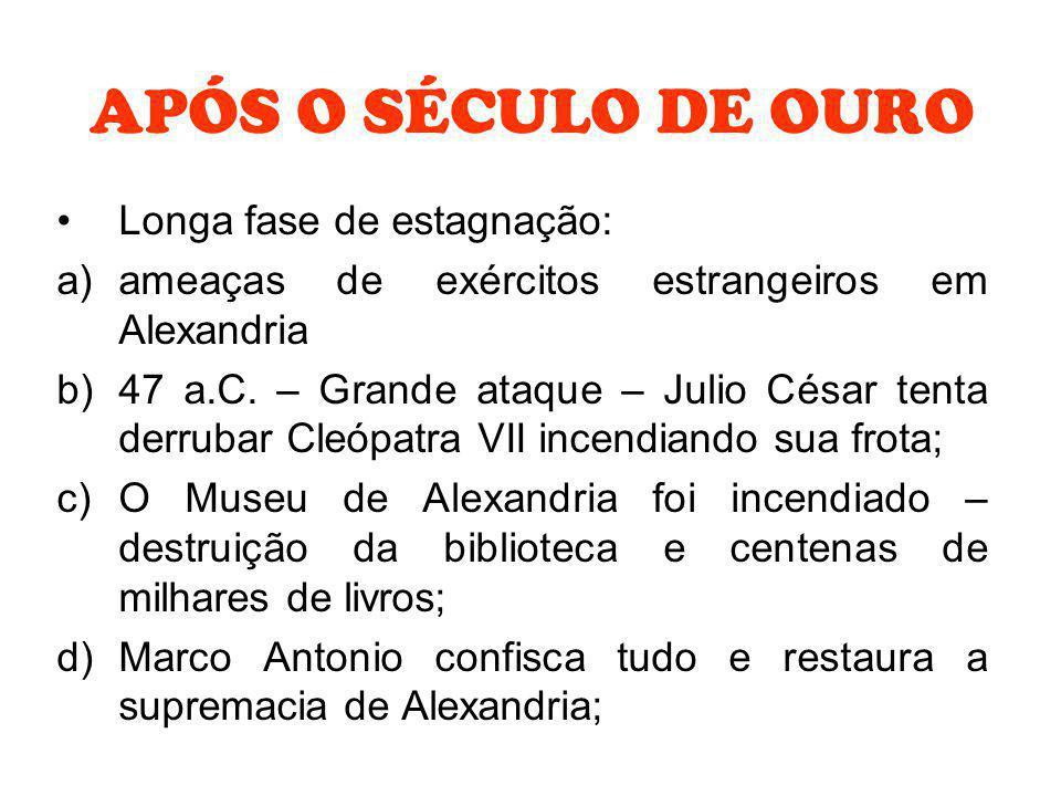 APÓS O SÉCULO DE OURO Longa fase de estagnação: