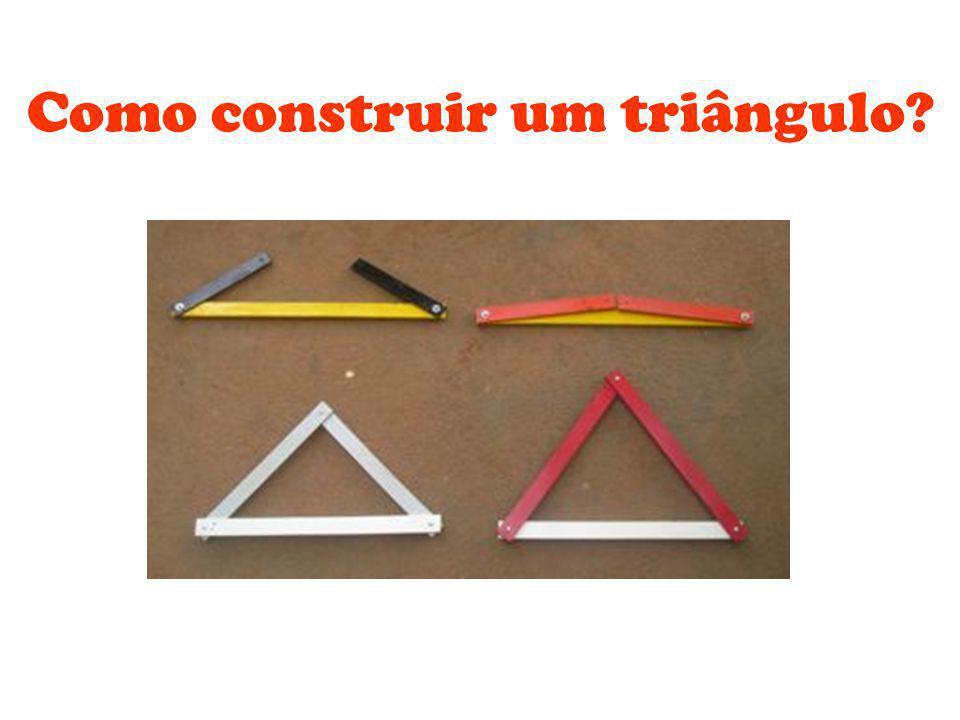 Como construir um triângulo