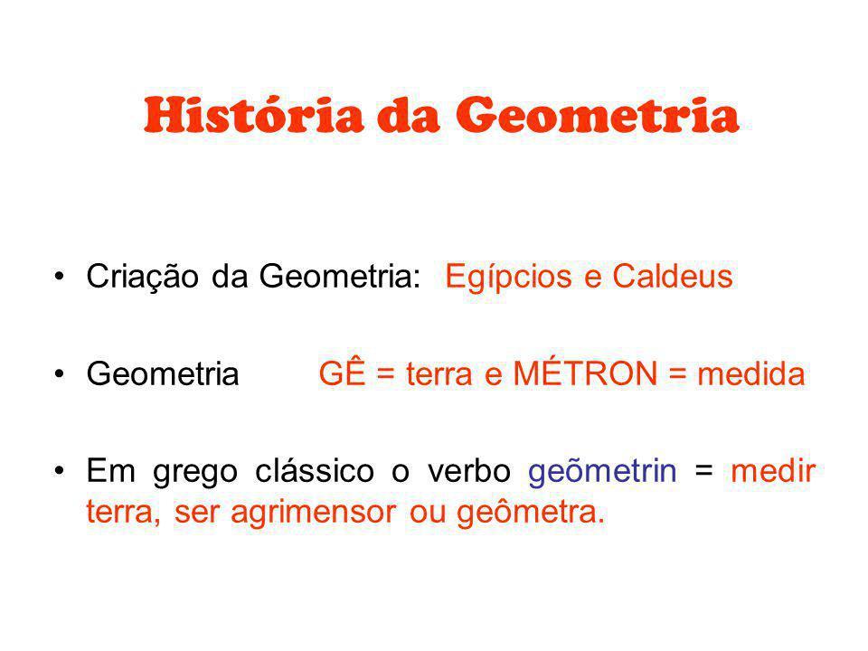 História da Geometria Criação da Geometria: Egípcios e Caldeus