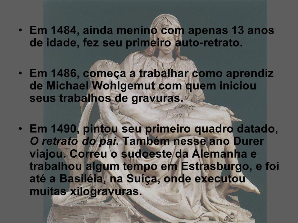 Em 1484, ainda menino com apenas 13 anos de idade, fez seu primeiro auto-retrato.