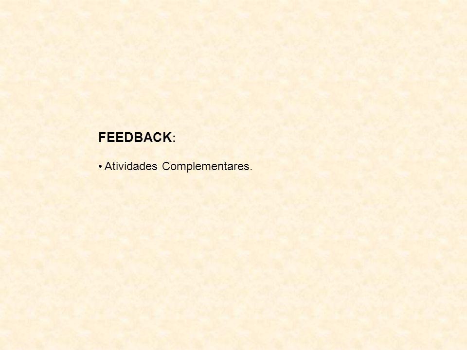 FEEDBACK: Atividades Complementares.
