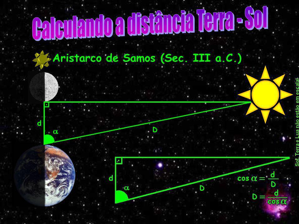 Calculando a distância Terra - Sol