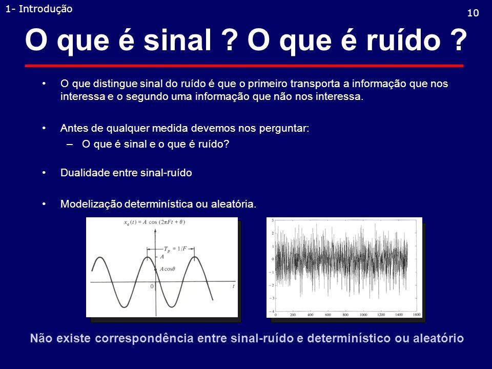 O que é sinal O que é ruído