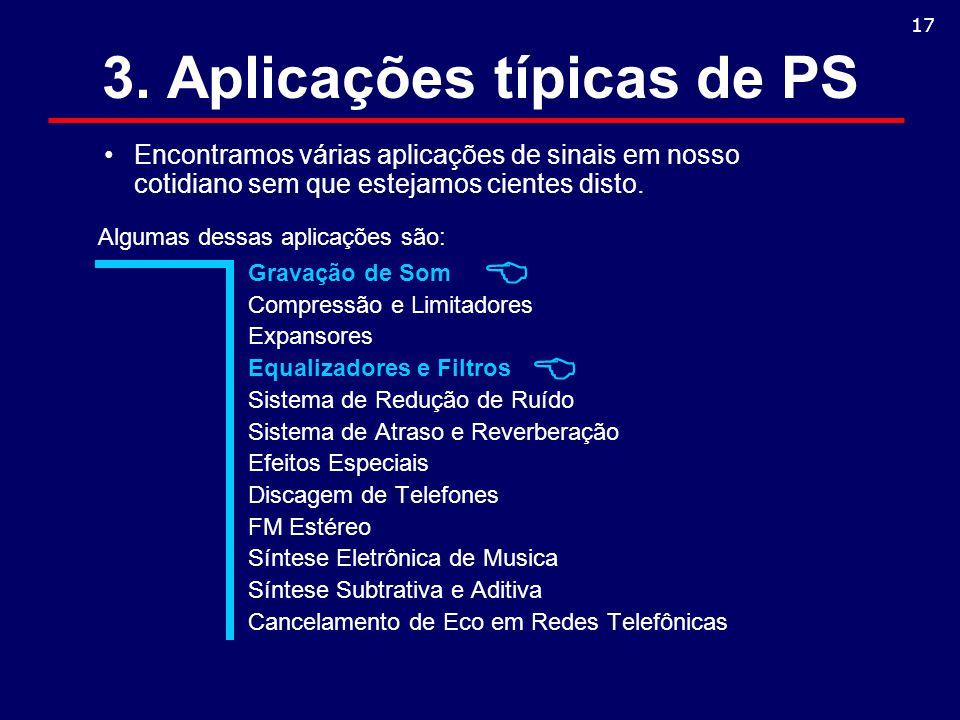 3. Aplicações típicas de PS