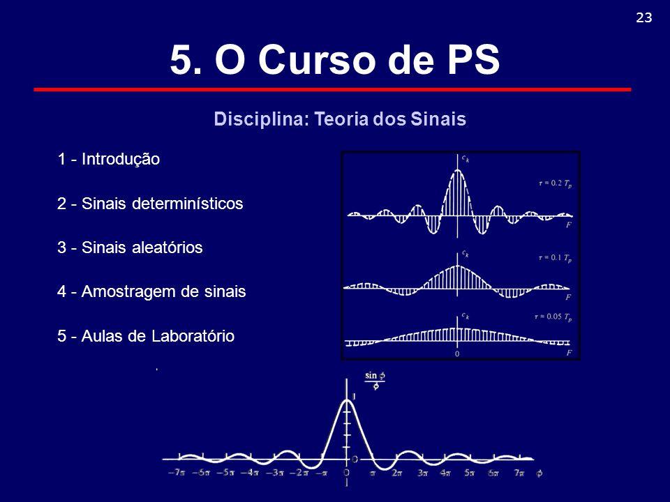 5. O Curso de PS Disciplina: Teoria dos Sinais 1 - Introdução