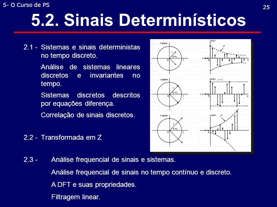 5.2. Sinais Determinísticos