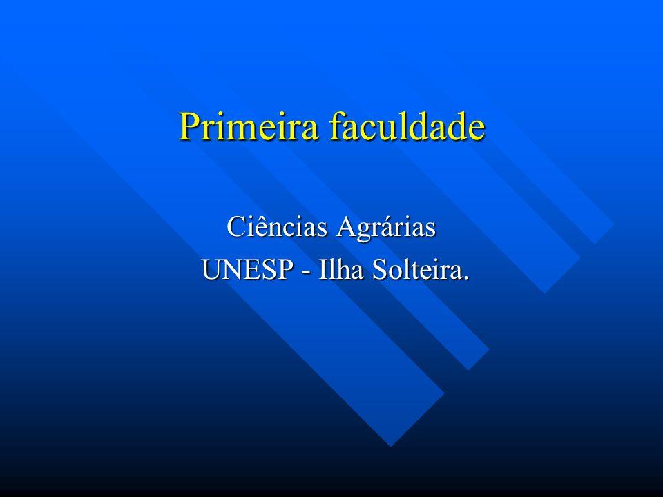 Ciências Agrárias UNESP - Ilha Solteira.