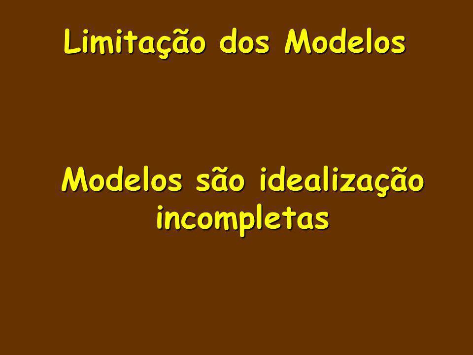 Modelos são idealização incompletas