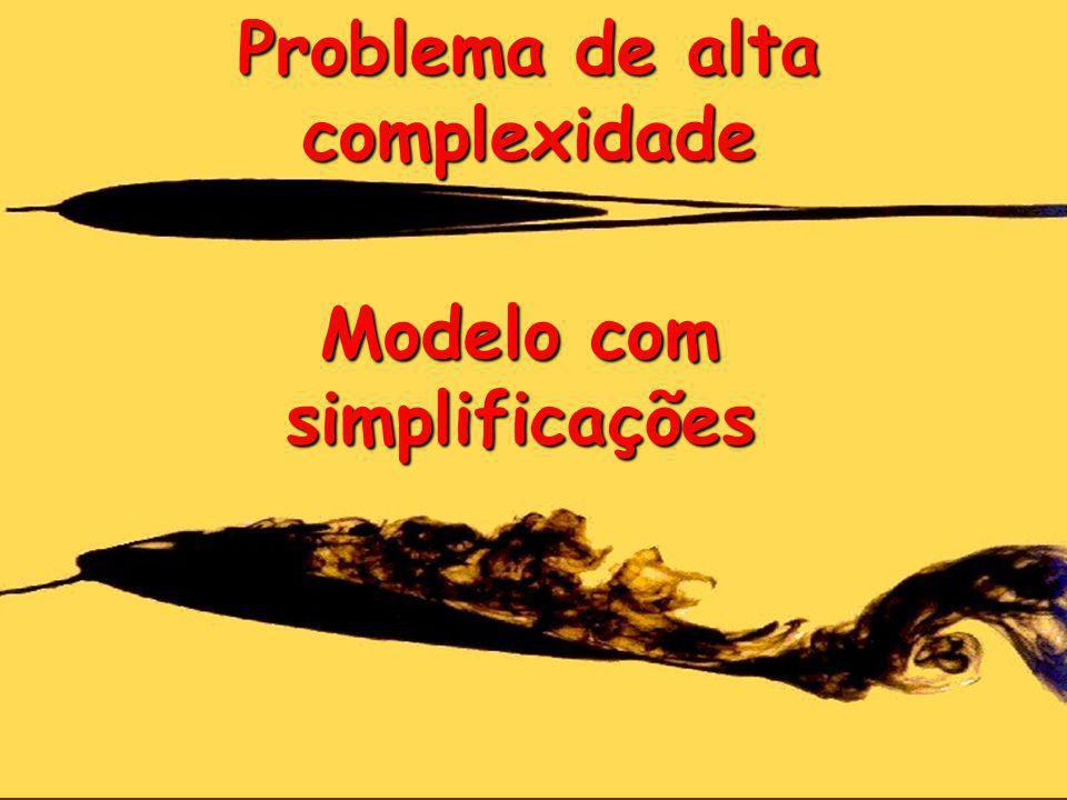 Problema de alta complexidade Modelo com simplificações