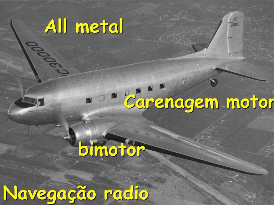 All metal Carenagem motor bimotor Navegação radio