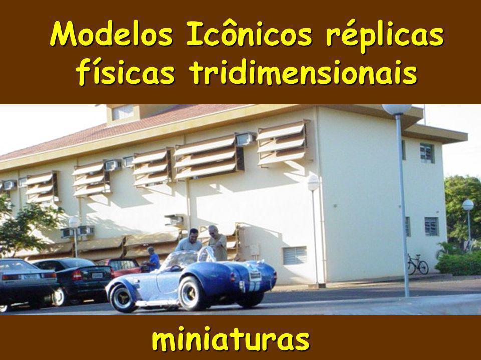 Modelos Icônicos réplicas físicas tridimensionais