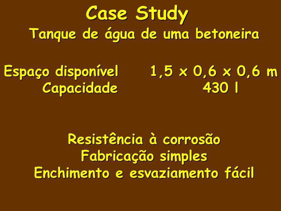 Case Study Tanque de água de uma betoneira