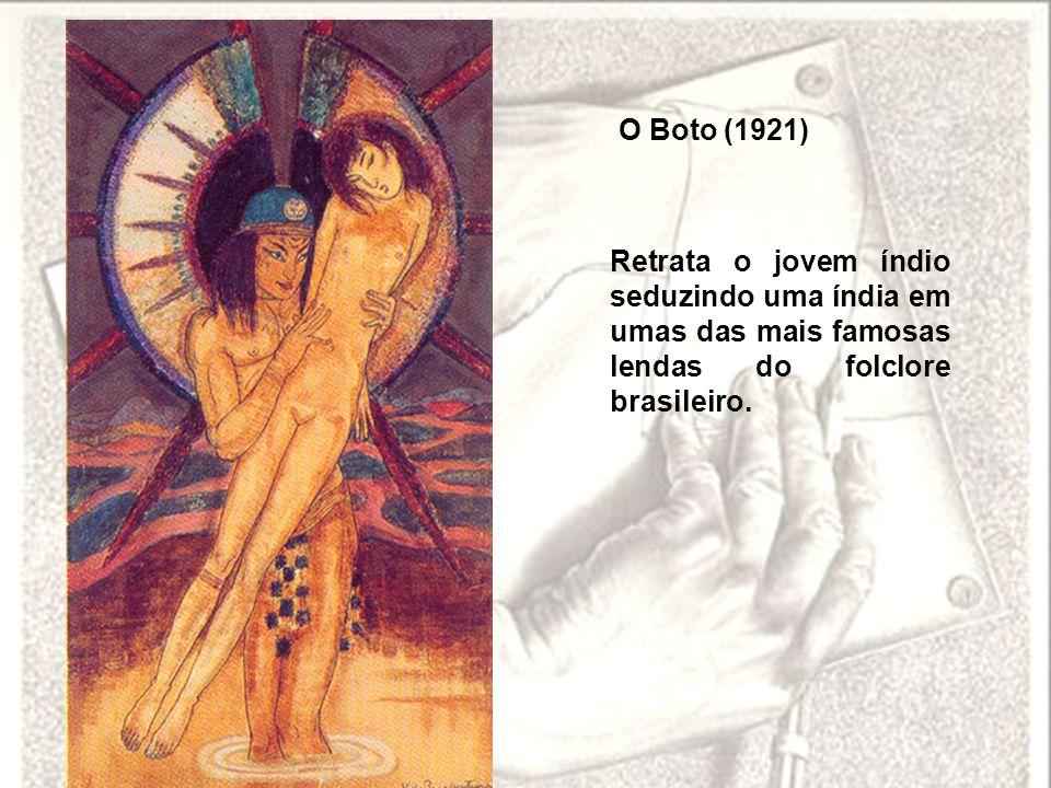O Boto (1921) Retrata o jovem índio seduzindo uma índia em umas das mais famosas lendas do folclore brasileiro.