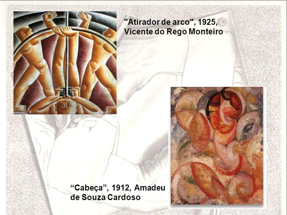 Atirador de arco , 1925, Vicente do Rego Monteiro Cabeça , 1912, Amadeu de Souza Cardoso