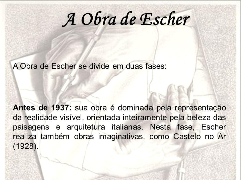 A Obra de Escher A Obra de Escher se divide em duas fases: