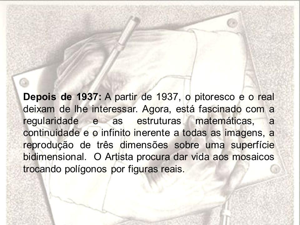 Depois de 1937: A partir de 1937, o pitoresco e o real deixam de lhe interessar.