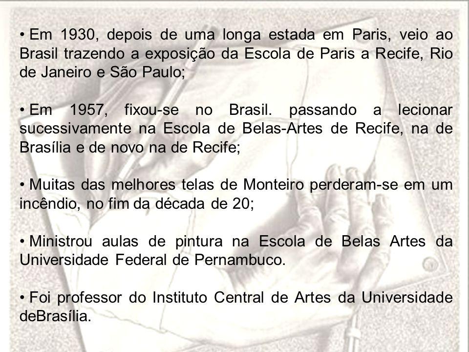 Em 1930, depois de uma longa estada em Paris, veio ao Brasil trazendo a exposição da Escola de Paris a Recife, Rio de Janeiro e São Paulo;