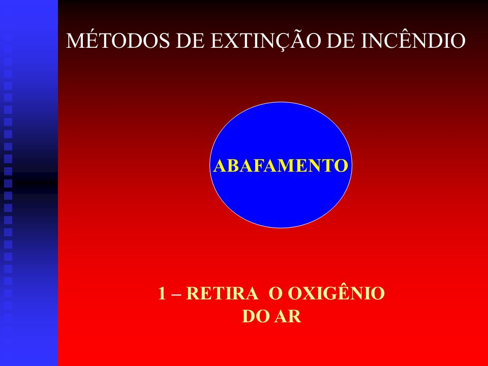 1 – RETIRA O OXIGÊNIO DO AR