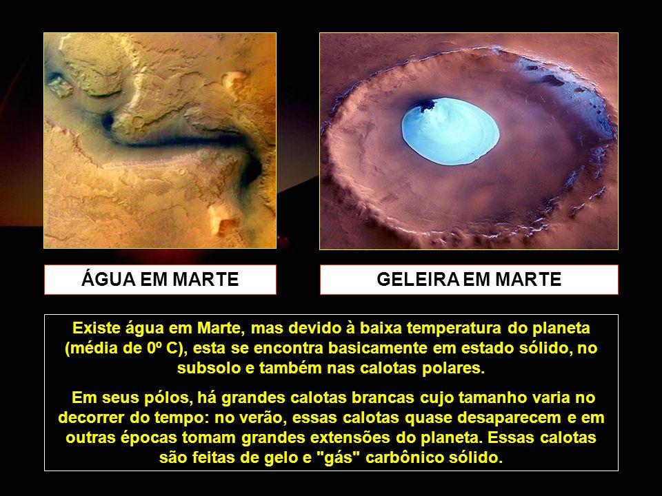ÁGUA EM MARTE GELEIRA EM MARTE