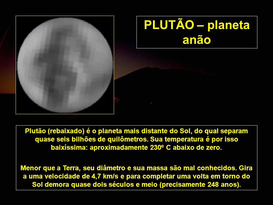 PLUTÃO – planeta anão