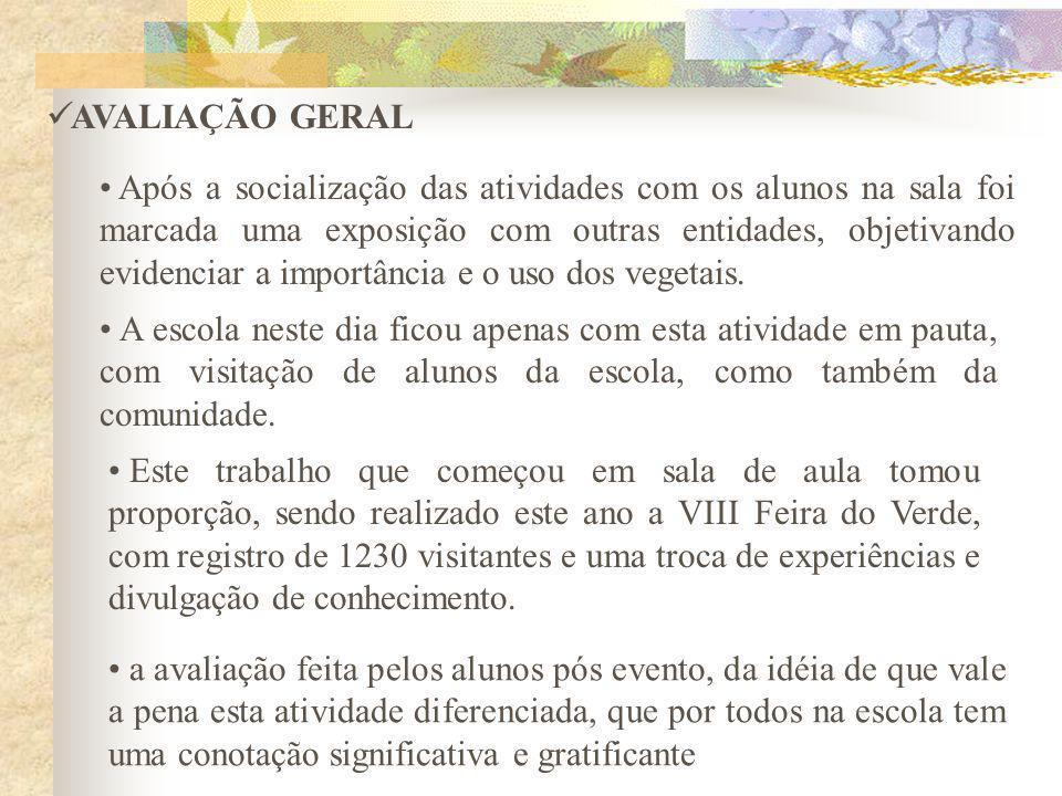 AVALIAÇÃO GERAL